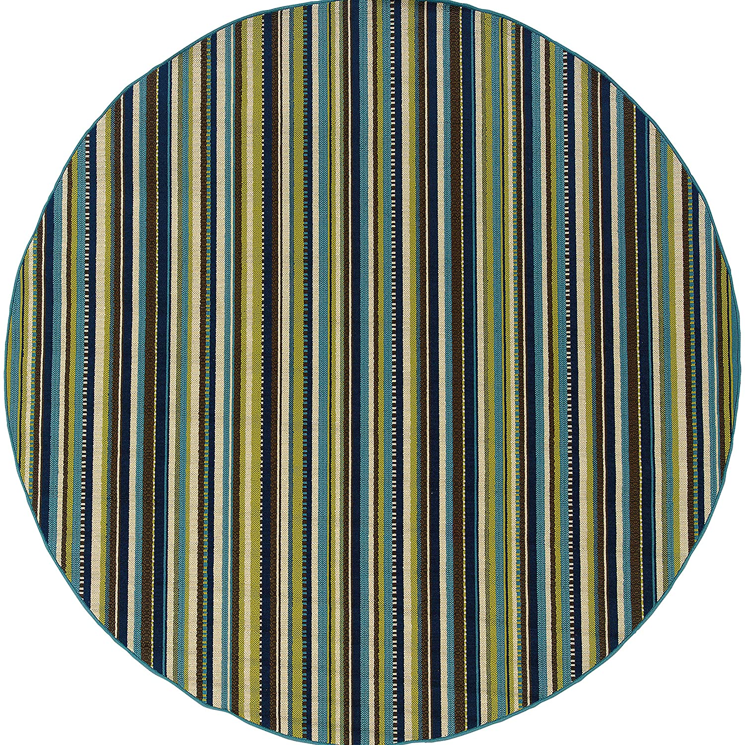 Christopher Knight Home CK-X4001 Corisco Stripe Indoor//Outdoor Area Rug 1ft 9in X 3ft 9in Blue,Brown