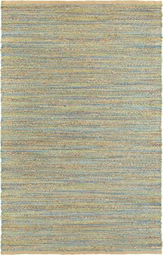 LR Resources Natural Fiber LR03313-BGN5079 Blue Green Rectangle 5 X 7 ft 9 inch Plush Indoor Area Rug