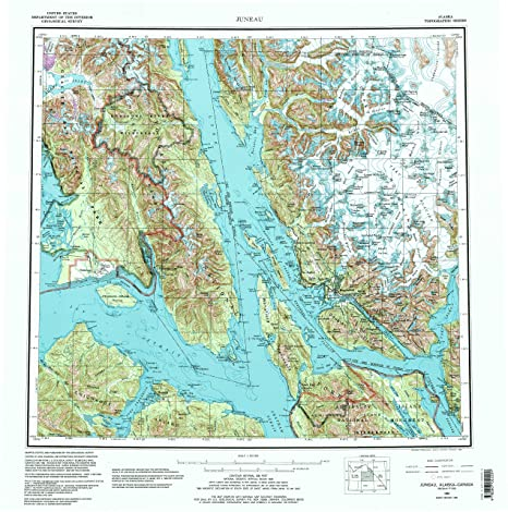 Amazon Com Yellowmaps Juneau Ak Topo Map 1 250000 Scale 1 X 2