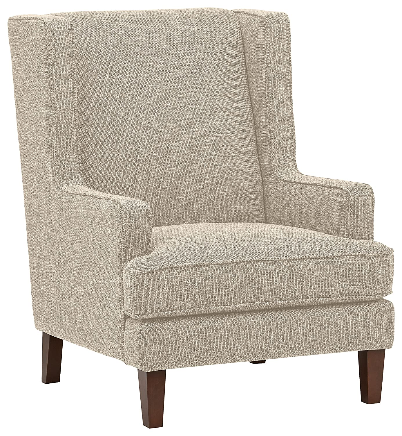 Accent Chairs Wingback.Stone Beam Highland Modern Wingback Accent Chair 32 W Oatmeal
