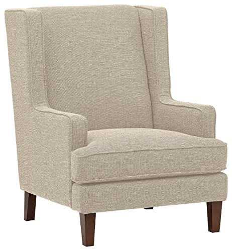 Stone Beam Highland Modern Wingback Living Room Accent Chair, 31.9 W, Oatmeal
