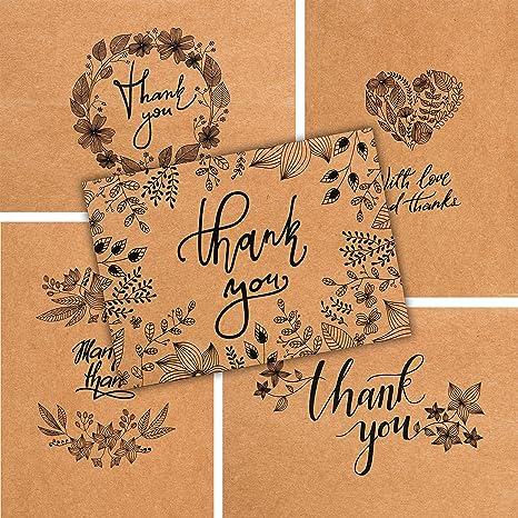 Amazon.com: 50 tarjetas de agradecimiento – Bulk tarjetas de ...