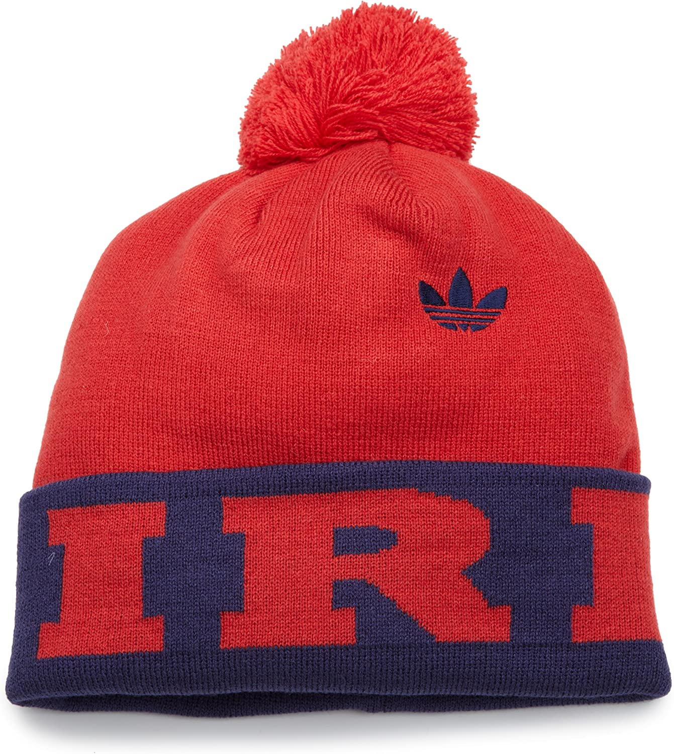 Cuffed Pom Knit Hat One Size Fits All Red MLS Chicago Fire