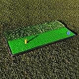 FORB Launch Pad Golf Practice Mat (2-in-1 Fairway/Rough) (24in x 12in) – Mini Golf Mat Combining Realistic Fairway & Semi-Rough Lies [Net World Sports]
