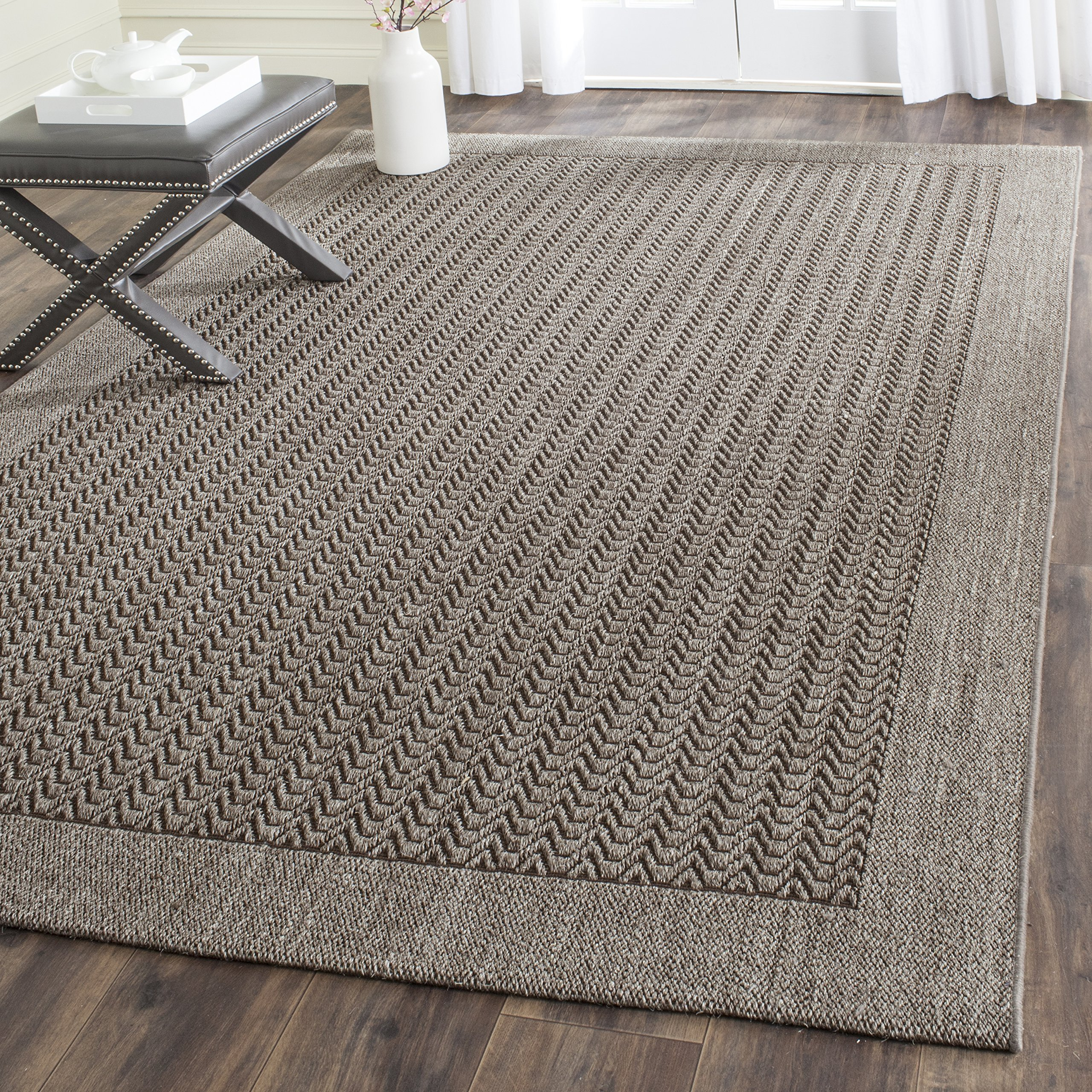 Safavieh Palm Beach Collection PAB321D Silver Sisal & Jute Area Rug (5' x 8') by Safavieh