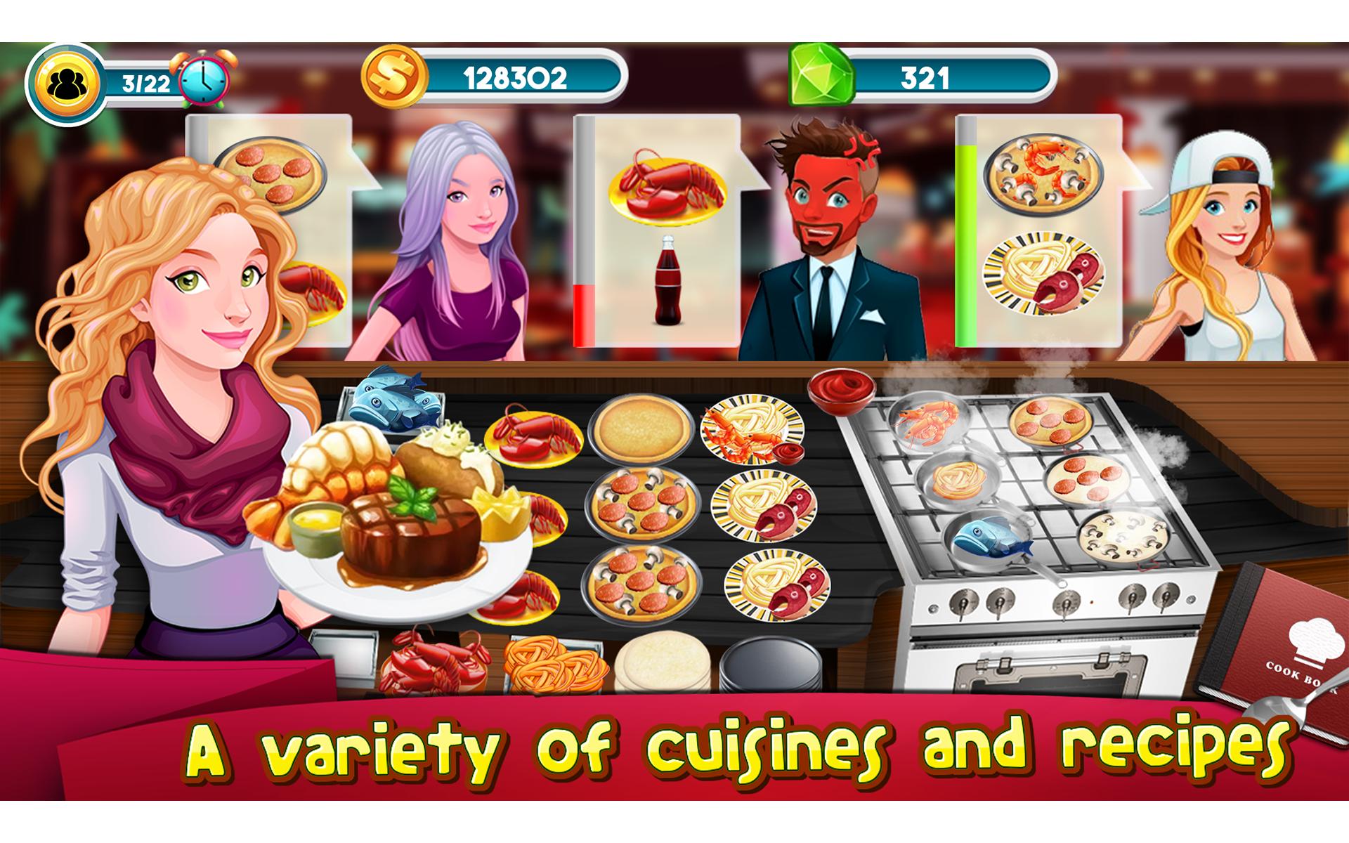 jeux de cuisine story chef restaurant d 39 affaires nourriture appstore for android. Black Bedroom Furniture Sets. Home Design Ideas