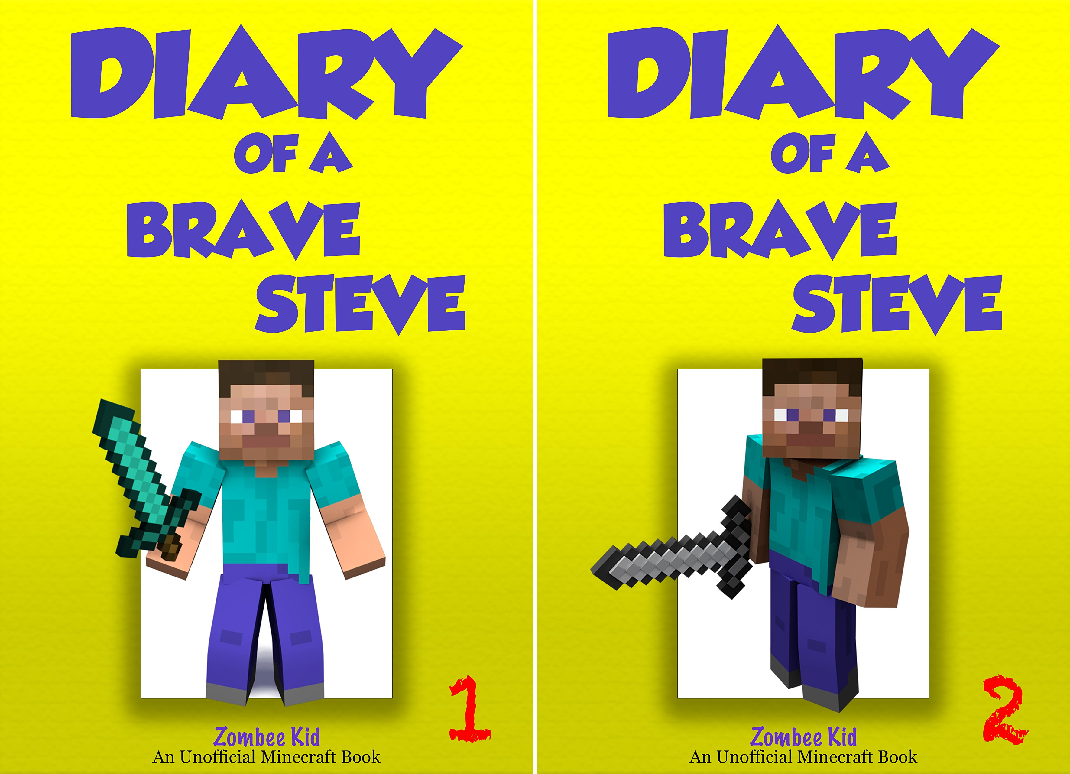 Unofficial Minecraft Diary of Brave Steve (2 Book Series)