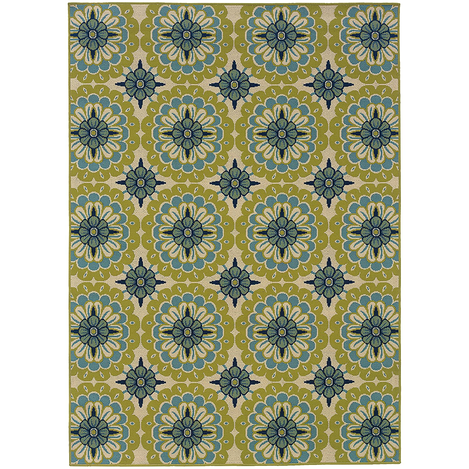 Amazon.com : Oriental Weavers 8328W Caspian Outdoor/Indoor Area Rug ...
