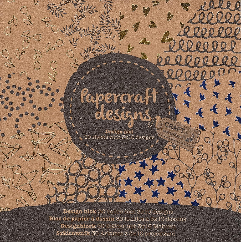 K7plus 6 x Scrapbooking Papier Motivblock mit je 30 Bl/ättern Bedruckt Bastelpapier 180 Bl/ätter 60 Designs Set Auswahl 03