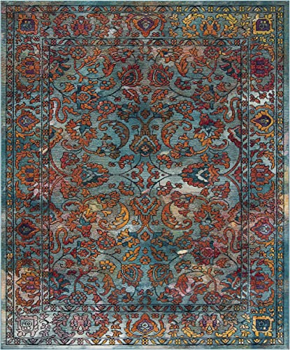 Safavieh Crystal Collection CRS515A Boho Chic Oriental Distressed Non-Shedding Stain Resistant Living Room Bedroom Area Rug