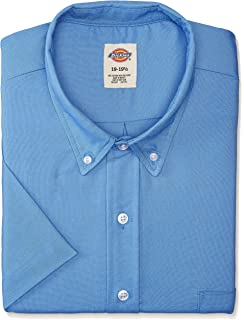 a3165f38edb Dickies Occupational Workwear SS46FB Polyester Cotton Men s Button-Down  Short Sleeve Oxford Shirt