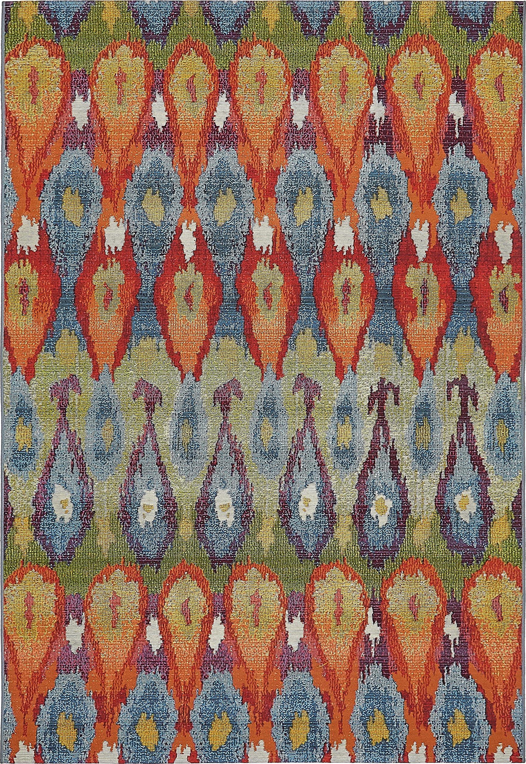 Unique Loom Eden Outdoor Collection Multi 5 x 8 Area Rug (5' 3'' x 8') by Unique Loom