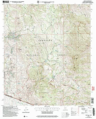 Ruby Arizona Map.Amazon Com Yellowmaps Ruby Az Topo Map 1 24000 Scale 7 5 X 7 5