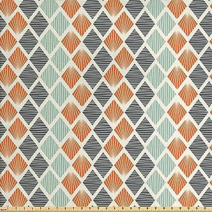 Amazon Com Ambesonne Geometric Fabric By The Yard Pop Art Style