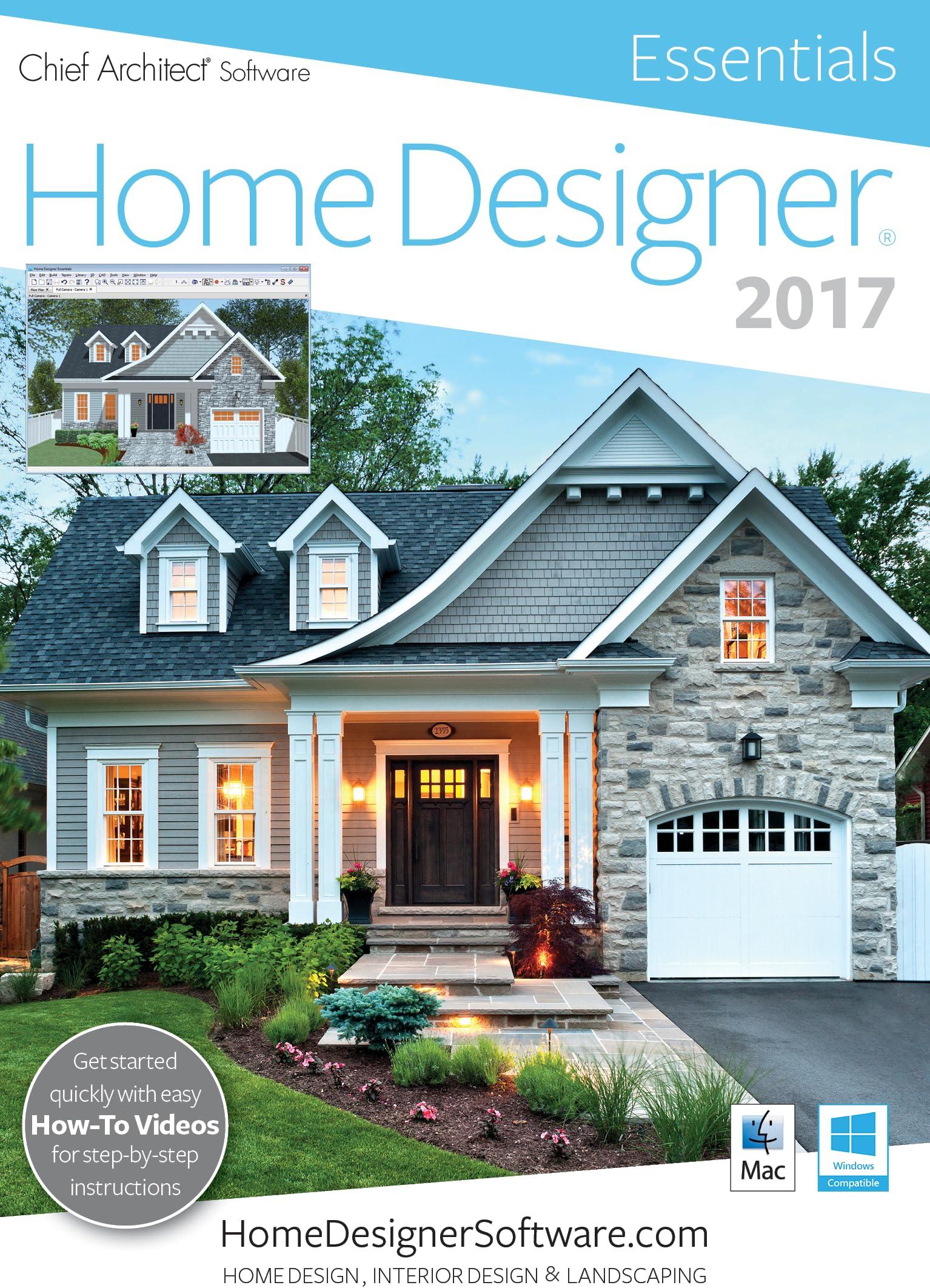 Amazon Com Home Designer Essentials 2017 Pc Download Software
