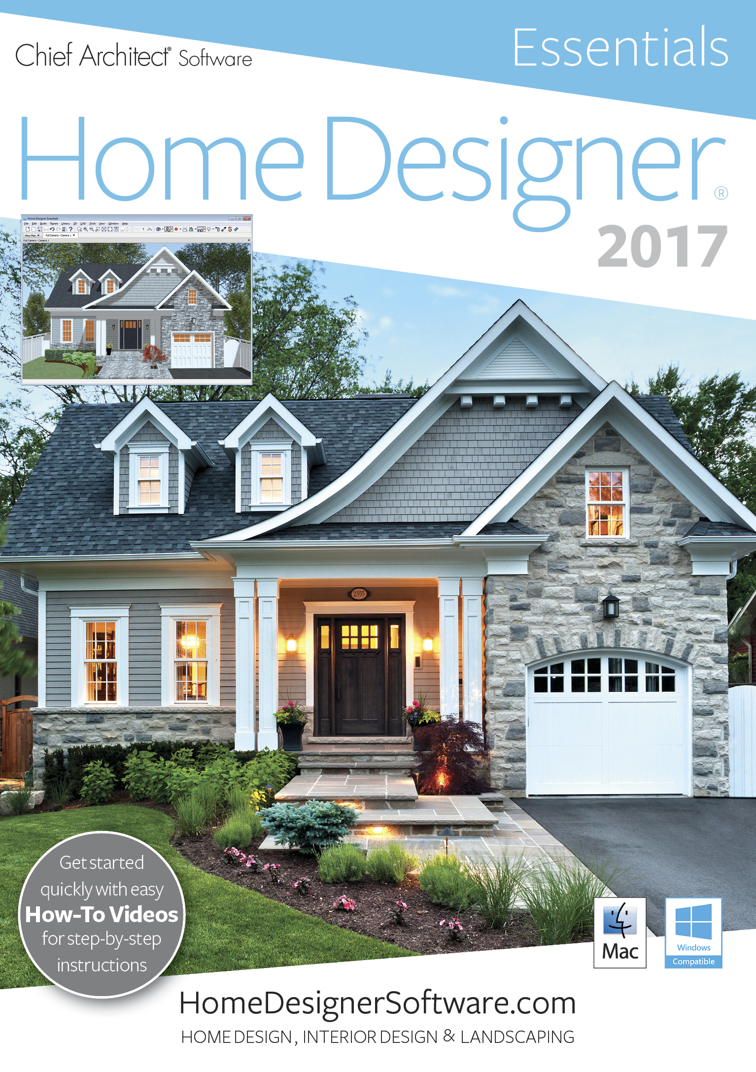 Amazoncom Home Designer Essentials 2017 PC Software