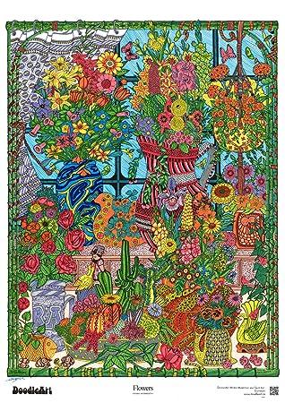 Amazon.com: The Original DoodleArt by PlaSmart - Flowers, Adult ...