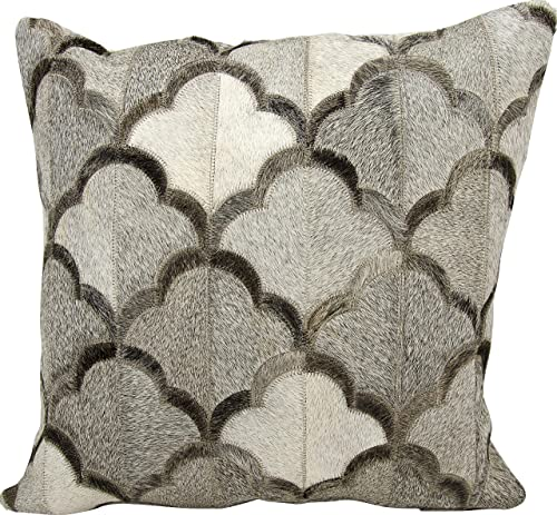 Nourison Mina Victory Mina Victory M1237 Grey Decorative Pillow, 20 X 20