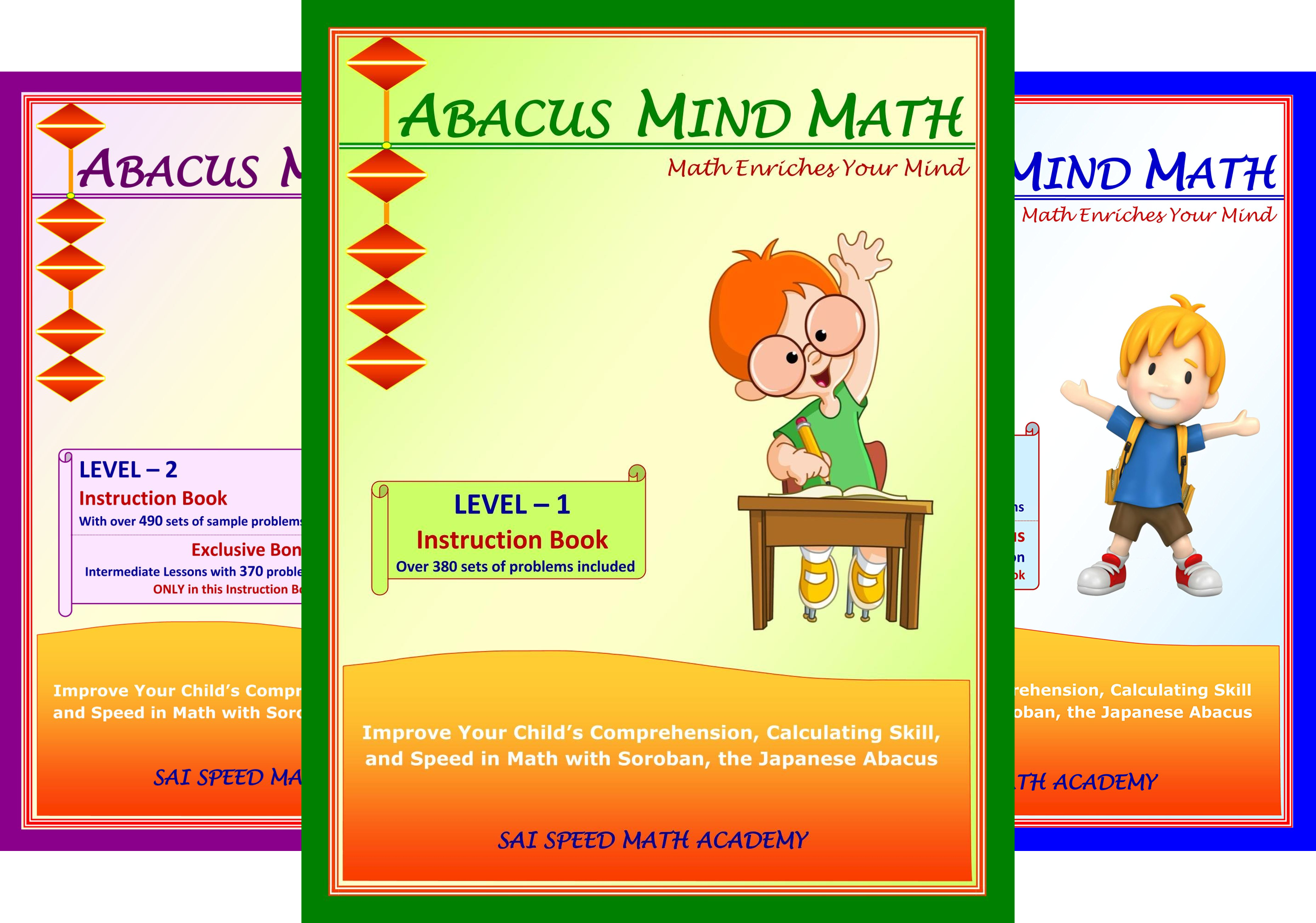 Abacus Mind Math (3 Book Series)