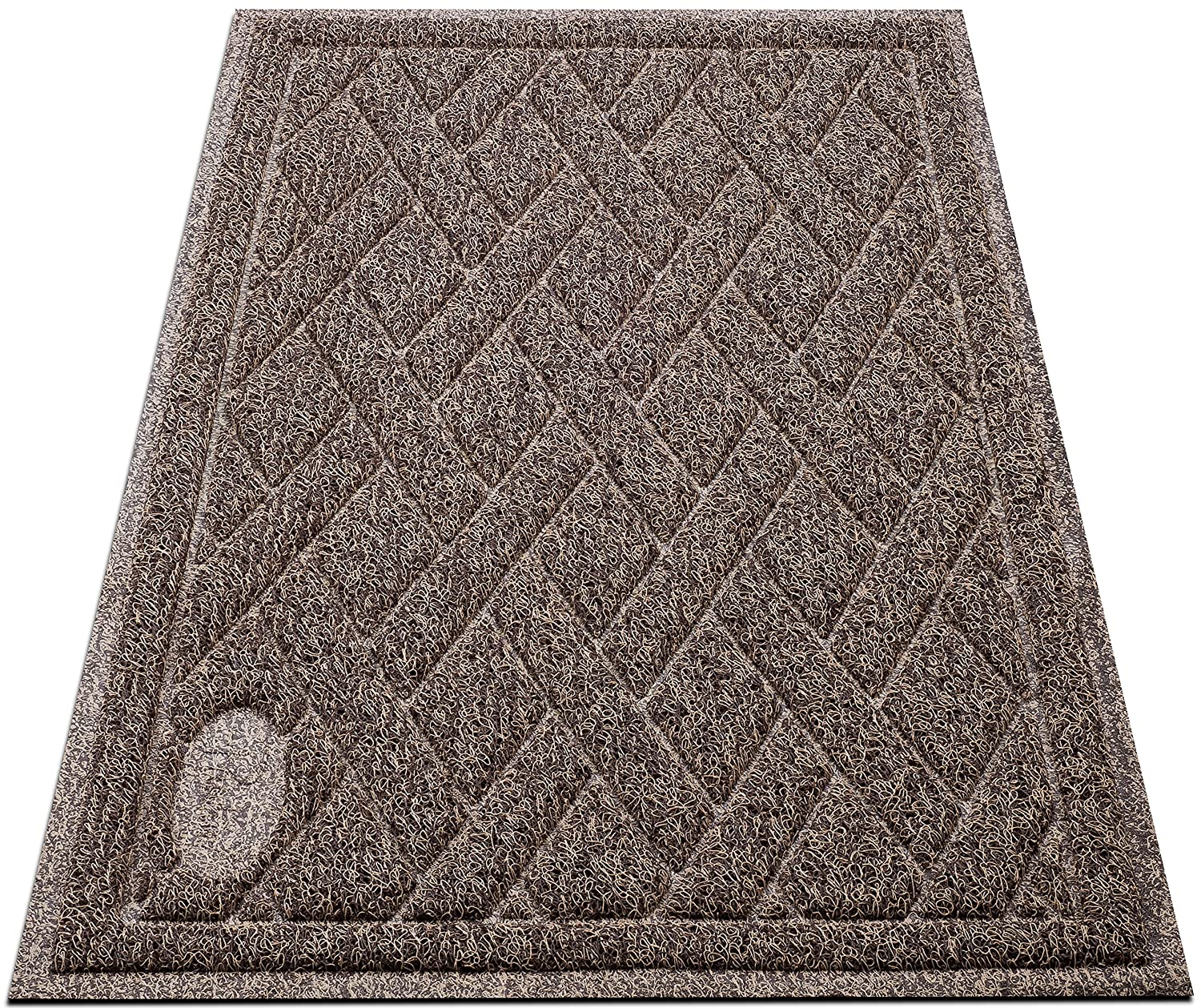 Pawkin Cat Litter Mat Patented Design with Litter Camouflage Extra Large Durable Easy to Clean Soft Fits Under Litter Box Litter Free Floors