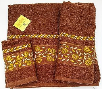 Confort Home M.T Juego de Toallas de baño 3 Piezas (1 Toalla de baño,