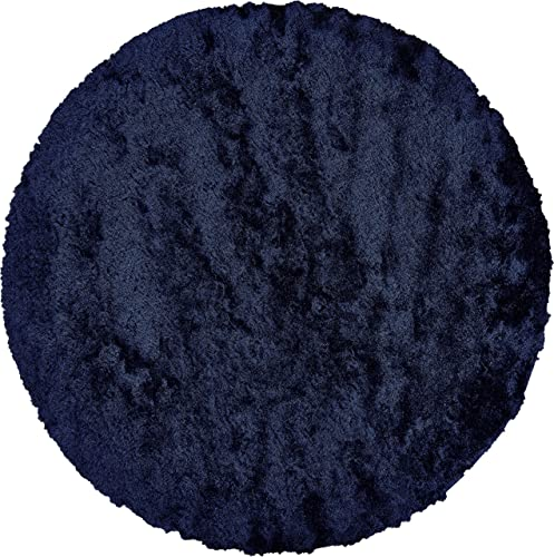 Feizy Rugs Indochine Collection Round Imported Area Rug, 10 x 10 , Dark Blue