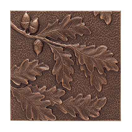 Whitehall Products Oak Leaf Wall Decor, Antique Copper
