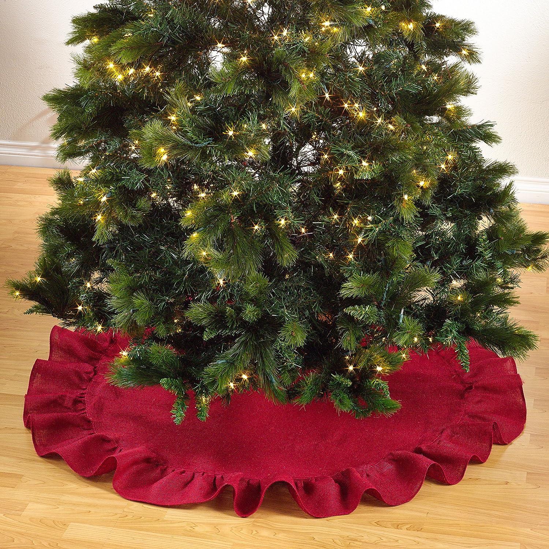 Decoración de Navidad Volantes Trim Yute Burlap árbol de Navidad ...