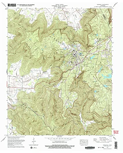 Amazon Com Yellowmaps Sewanee Tn Topo Map 1 24000 Scale 7 5 X