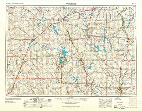Amazon.com : Fairmont MN topo map, 1:250000 scale, 1 X 2 Degree ...