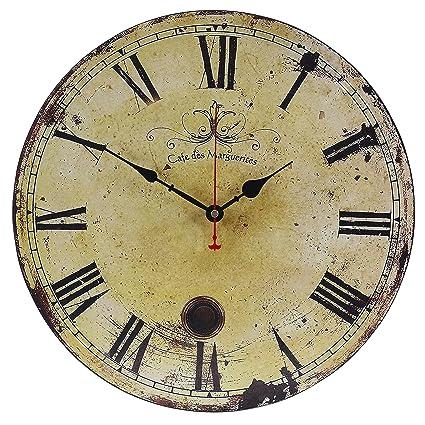 Amazon.com: Old Oak 16-Inch Vintage Large Decorative Wall Clock ...
