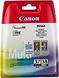 Canon PG37/ CL38 Ink Cartridge Bundle Pack - Black/ Colour