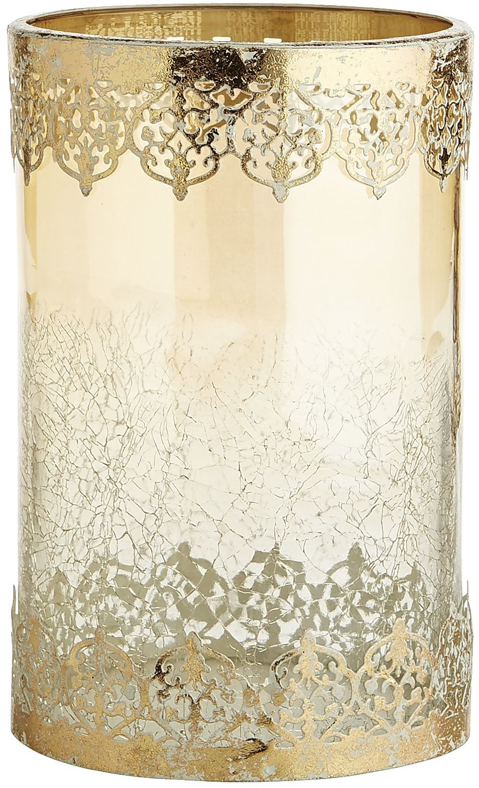 Amber Lace Trimmed Hurricane Candle Holder | Pier 1 Imports