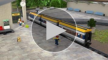 LEGO City - Tren De Pasajeros, Maqueta de Juguete Ferroviario con Control Remoto por Bluetooth, Incluye Minifigura del Maquinista y Varios Pasajeros ...
