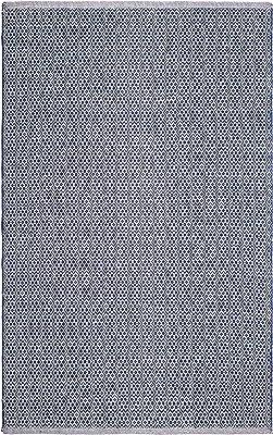 Fab Habitat - 100% Recycled Cotton Flat Weave, Handwoven Floor Mat/Rug, Bodhi - Blue (3' x 5')