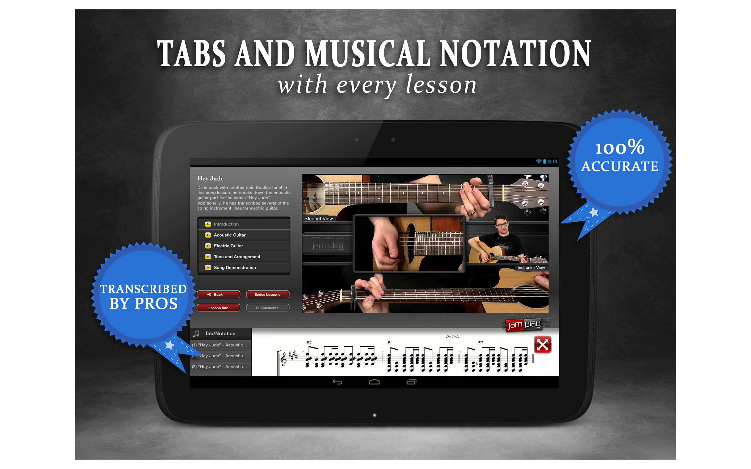 Amazon Guitar Lessons From Jamplay Appstore For Android