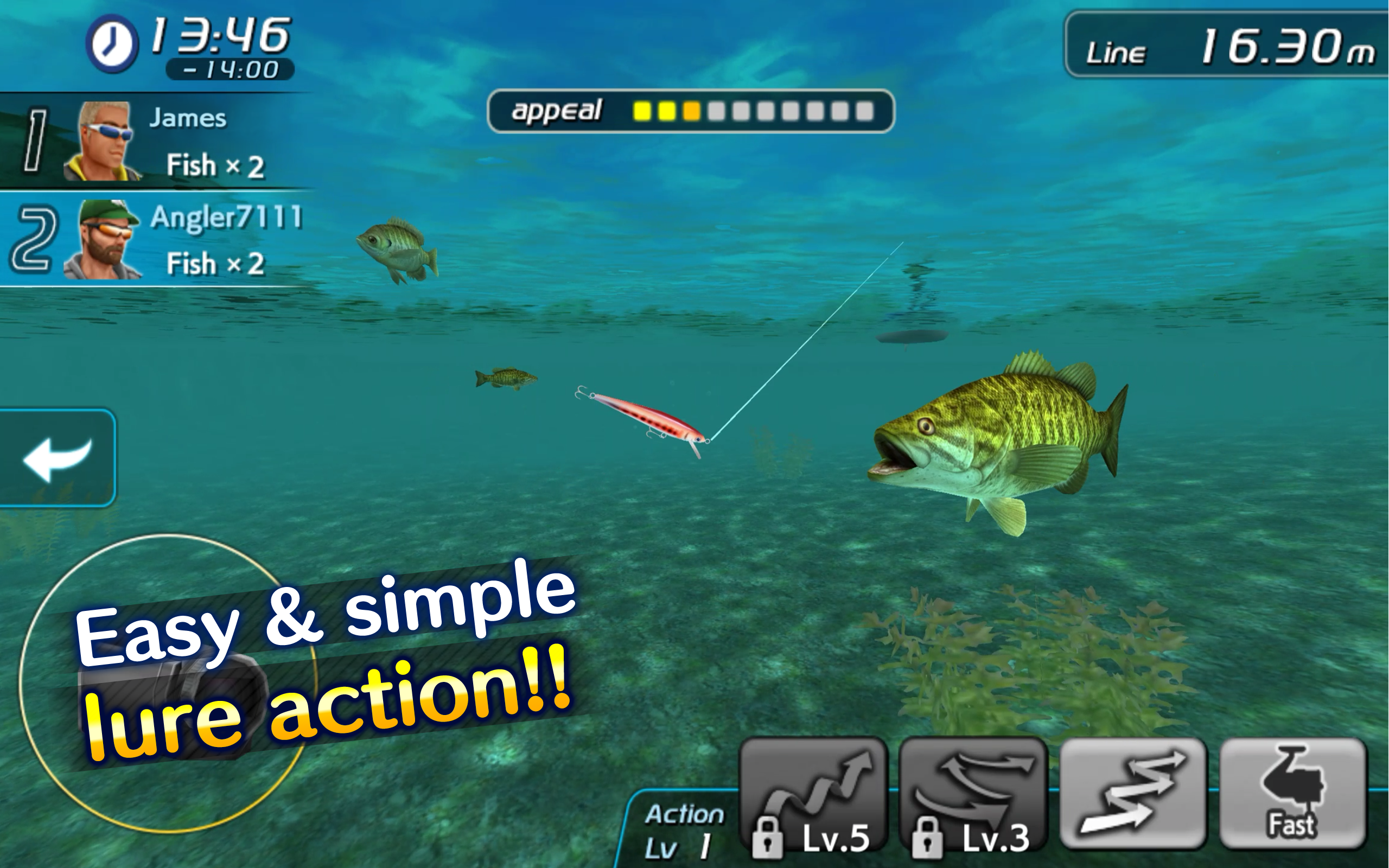Bass fishing 3d ii appstore for android for Bass fishing apps