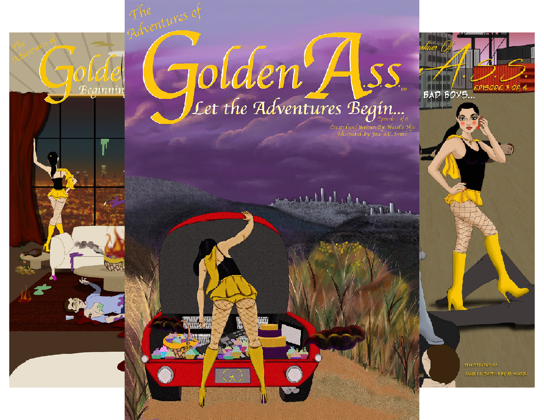 The Adventures of Golden A.S.S. (8 Book Series)