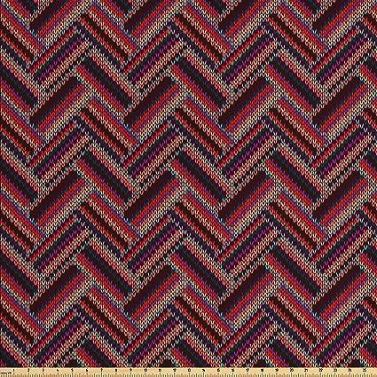 Amazon Lunarable Abstract Fabric By The Yard Stylish Zig Zag