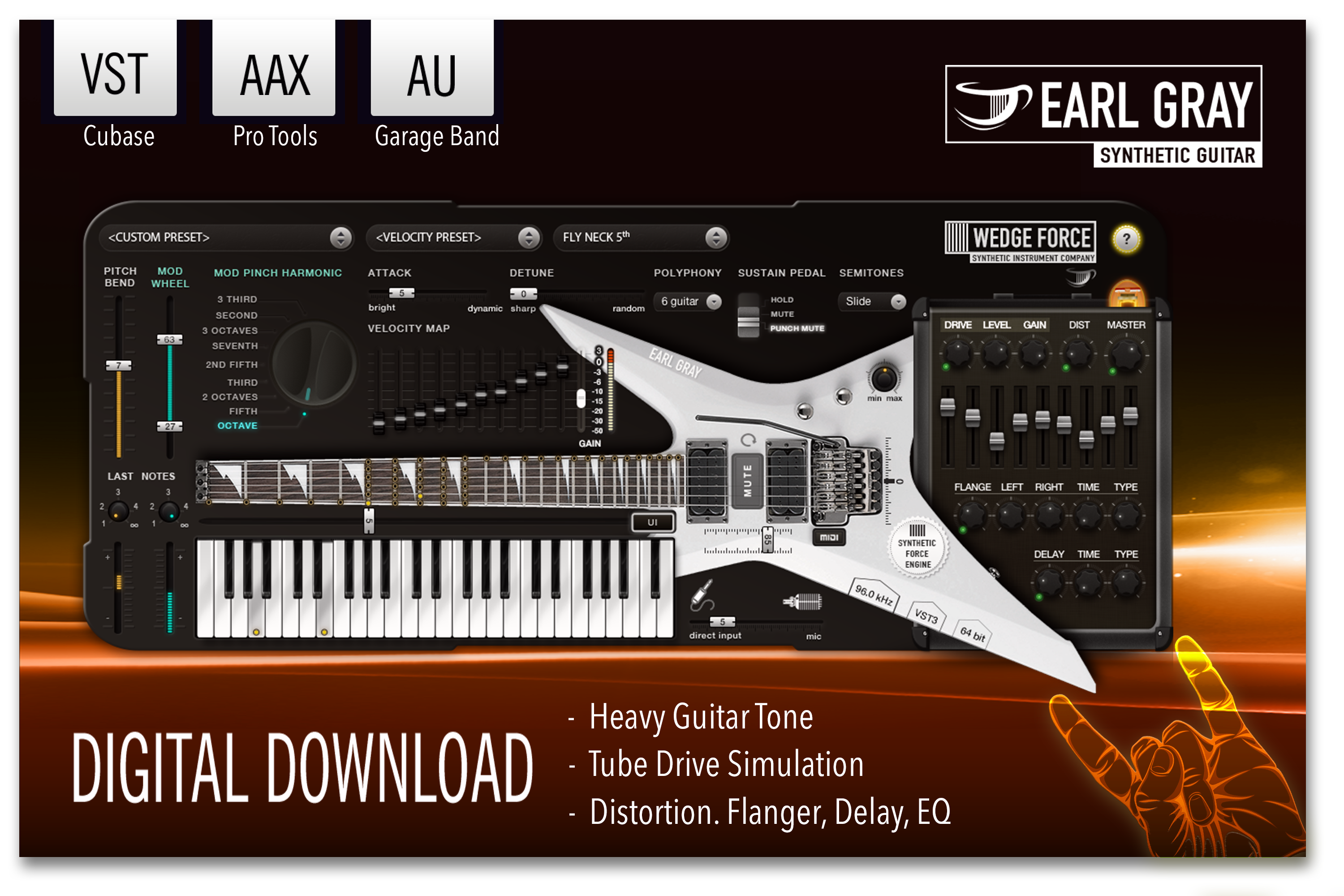 Software Synthesizer (Earl Gray: Heavy Guitar Virtual Instrument Software Synthesizer [Online Code])