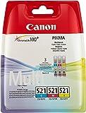 Canon CLI-521 C/M/Y Tintenpatronen (3-er Pack: 3x9ml) cyan/magenta/gelb