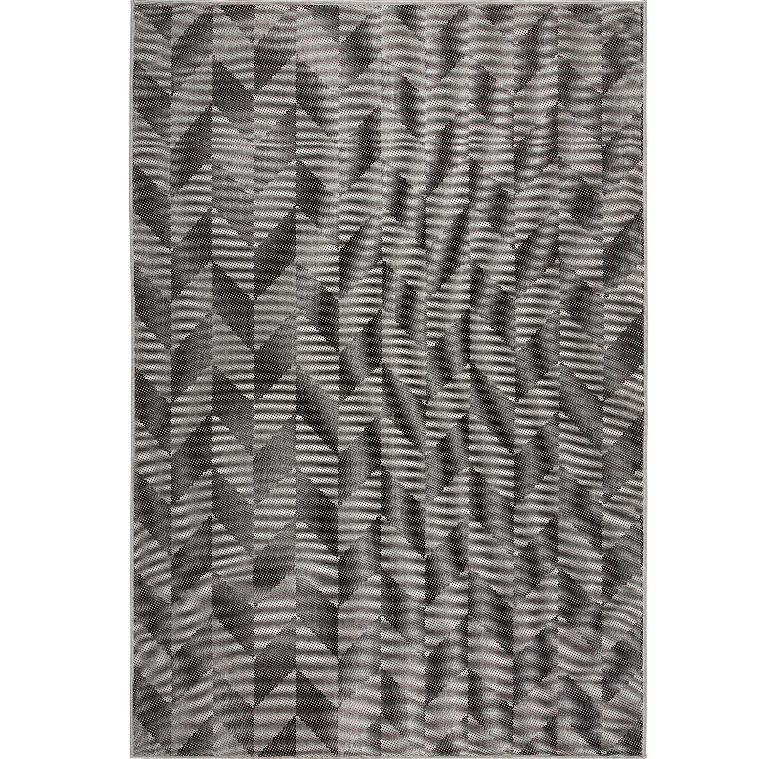 Home Dynamix Nicole Miller Patio Country Calla Indoor/Outdoor Area Rug 7'9''x10'2'', Modern Geometric Black/Gray by Home Dynamix (Image #2)