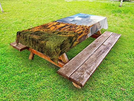 Swell Amazon Com Ambesonne Medieval Outdoor Tablecloth Old Machost Co Dining Chair Design Ideas Machostcouk