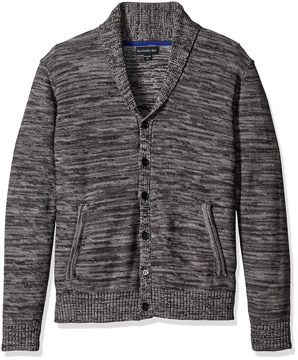 Blizzard Bay Men's Shawl Neck Sweater Grey Small Blizzard Bay Mens Apparel E60847