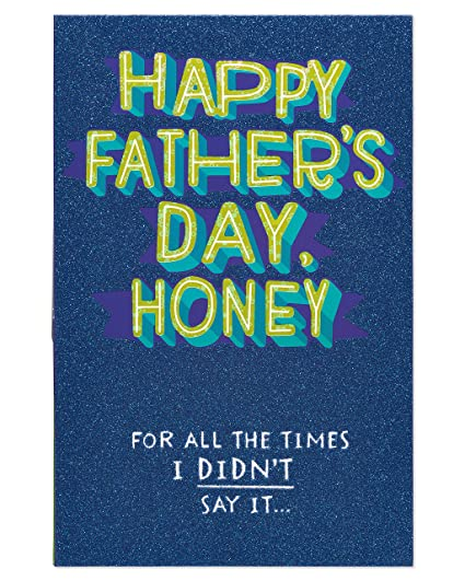Amazon american greetings funny honey fathers day card for american greetings funny honey fathers day card for husband with glitter 6051617 m4hsunfo
