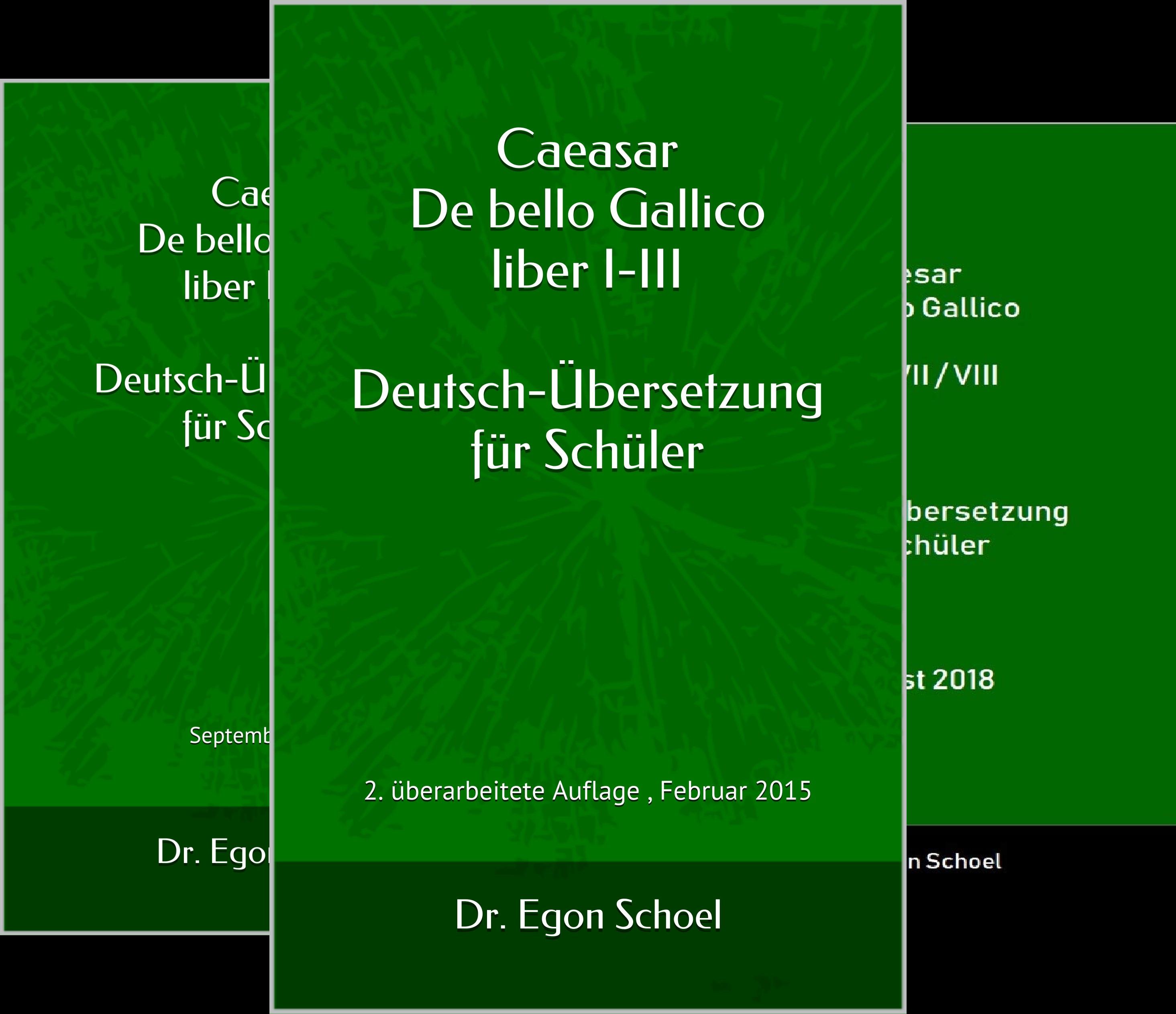 Caesar De bello Gallico Deutsch-Übersetzung für Schüler (Reihe in 3 Bänden)