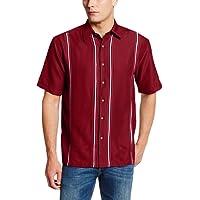Cubavera Men's Essential Short Sleeve Shirt with Contrast Inset Panels