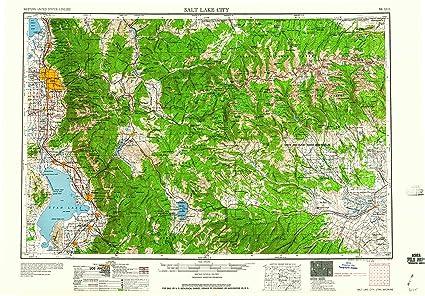 Amazon.com : YellowMaps Salt Lake City UT topo map, 1:250000 Scale ...