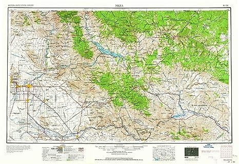 Topo Map Of Arizona.Amazon Com Yellowmaps Mesa Az Topo Map 1 250000 Scale 1 X 2
