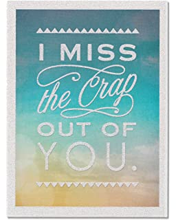 Amazon i miss you so fukcing much adult love greeting card american greetings funny miss you thinking of you card with glitter 5856786 m4hsunfo